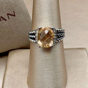 David Yurman Petite Wheaton Ring Sz 7